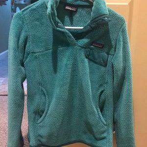 +PATAGONIA+ Green fleece pullover